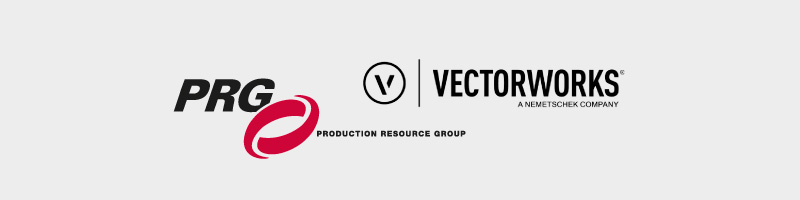 PRG & Vectorworks Logos - Press Release Partnership